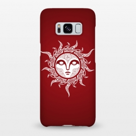 Galaxy S8+  MIDWINTER SUN by RAIDHO (SUN,SUN-FACE,WHITE EYES,YULE,RAVENS,NORDIC MYTHOLOGY,SUN SIGN,KNOTWORK)