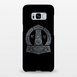 Galaxy S8+  MJOLNIR by RAIDHO (mjolnir,thor,thor's hummer,vikings,nordic mythology,knotwork,runes,dragons,triquerta)