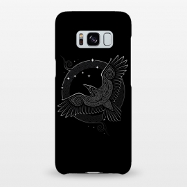Galaxy S8+  NORTHERN RAVEN ( Path to the North ) by RAIDHO (raven,north,stars,ursa major,night,knotwork)