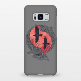 Galaxy S8+  HUGIN & MUNIN by RAIDHO (odin's ravens,odin,ravens,hugin and munin,nordic mythology,vikings,knotwork)