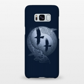 Galaxy S8+  ODIN'S RAVENS by RAIDHO (ODIN,ODIN'S RAVENS,HUGIN AND MUNIN,MOON,NORDIC MYTHOLOGY,VIKINGS,KNOTWORK,RAVENS)