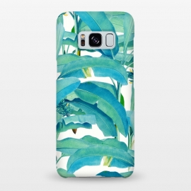 Galaxy S8+  Banana Forest by Uma Prabhakar Gokhale (tropical,banana leaves,banana leaf,nature,pattern,illustration,exotic)