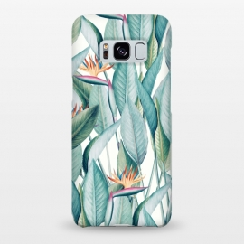 Galaxy S8+  Back to Paradise by Uma Prabhakar Gokhale (watercolor, other, pattern, realism, bird of paradise, floral, nature, botanical, tropical, exotic, island, vacation, green, bloom)