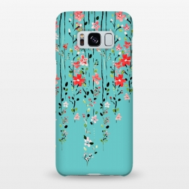 Galaxy S8+  Floral Dilemma by Uma Prabhakar Gokhale (other, pattern, expressionism, floral, nature, creepers, red, teal, exotic, blossom, tropical)