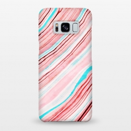 Galaxy S8+  Between the Lines by Uma Prabhakar Gokhale (pastel, pattern, exotic, lines, blue, pink, waves)