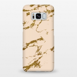 Galaxy S8+  Blush & Gold Marble by Uma Prabhakar Gokhale (graphic design, other, pattern, abstract, blush, gold, rose gold, pastels, pink, exotic, golden, metallic, marble)