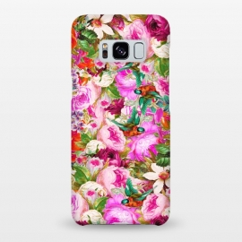 Galaxy S8+  Nectar by Uma Prabhakar Gokhale (acrylic, other, pattern, expressionism, floral, nature, birds, summer, flourish, bloom, tropical, exotic, roses)