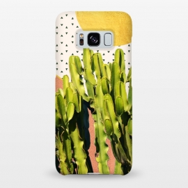 Galaxy S8+  Cactus Dream by Uma Prabhakar Gokhale (graphic design, other, abstract, vector, cactus, nature, modern, polka dots, gold, botanical, desert, fun, rose gold, copper)