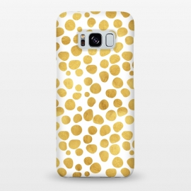 Galaxy S8+  Gold Spots by Uma Prabhakar Gokhale (graphic, acrylic, other, pattern, abstract, gold, golden, polka dots, dotted pattern, metallic, exotic, shine)