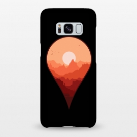 Galaxy S8+  Destination Unknown by Grant Stephen Shepley (outdoors,travel,adventure,nature,roadtrip,sun,sky,mountain,mountains,van,vector,minimal,map,sunset,combi,silhoutte,geography)