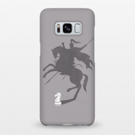 Galaxy S8+  Think Big! by Grant Stephen Shepley (chess,parody,knight,game,gray,grey,horse,roman,shadow,concept,clever,motivational,inspirational)