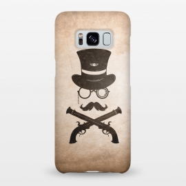 Galaxy S8+  Steampunk by Grant Stephen Shepley (Steampunk,retro,gun,badge,monacle,minimal,western,cowboy,gentleman,man)