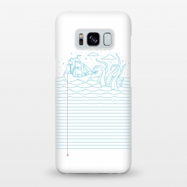 Galaxy S8+  My Mind's at sea by Grant Stephen Shepley (sea,ship,illusion,minimal,concept,lines,sailor,waves,dream,dreamy,vector)