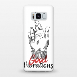 Galaxy S8+  Good Vibrations by Ilustrata (good-vibrations , good , like , hands , lettering , phrase , words , manga , comics , good-day , relax)