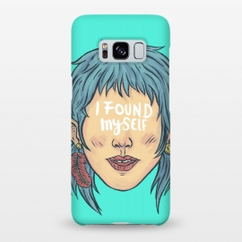 Galaxy S8+  I found myself by Ilustrata (lettering , words , phrase , message , hyde , coolest , word , typo , blue , found , myself , handlettering)
