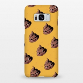 Galaxy S8+  Kawaii Poop by Ilustrata (poop,kawai,kawaii,yellow,funy,funny,vintage,pattern,hand draw,cute,cool)