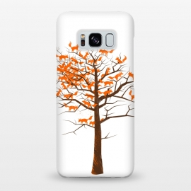 Galaxy S8+  Blazing Fox Tree by 38 Sunsets (fox,foxes,tree,trees,nature,wild,outdoor,animal,animals,orange,brown,forest,optical illusion,autumn)