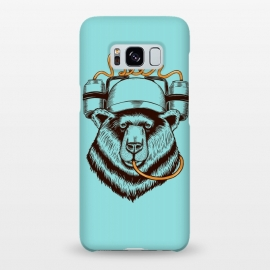 Galaxy S8+  BEAR LOVE BEER by Coffee Man (bear, beer,funny,nature,wild,humor,vintage,drink,birra,bar,happy)