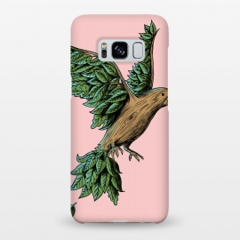 Galaxy S8+  Wood Bird by Coffee Man (bird,nature,wood,tree,wild,planet,animal,cute,funny,humor,wtf,fly,vintage,retro)