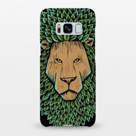 Galaxy S8+  Wood Lion by Coffee Man