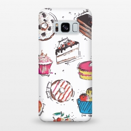 Galaxy S8+  Dessert Love by MUKTA LATA BARUA (cake,pastry,sweet,dessert,food,illustration,art,graphic,print)