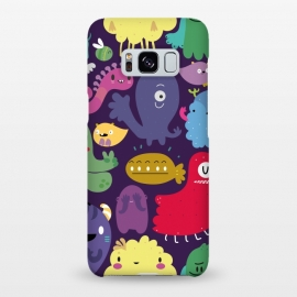 Colorful monsters by Maria Jose Da Luz (monsters,creatures,colors,girls,teens,happy)