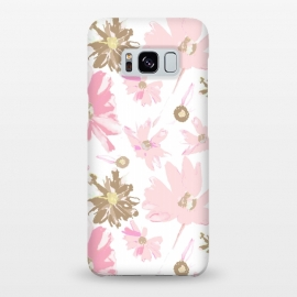 Galaxy S8+  Daisy Daisy - Pink by Bettie * Blue (daisy,daisies,pink,pink flowers,floral,flowers,feminine,girly,girl,spring,sweet)