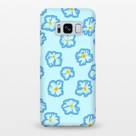 Galaxy S8+  Happy Daysies by Bettie * Blue (daisies, daisy,flower,floral,blue,blue floral,flower pattern)