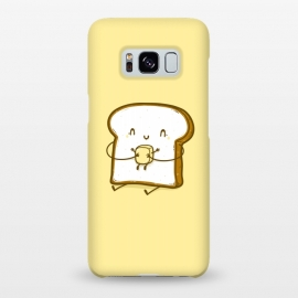 Galaxy S8+  Bread & Butter by Xylo Riescent (Robo Rat,food with faces,funny,hug,bread,butter,love,embrace,yellow,kids,cool,awesome)