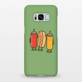 Galaxy S8+  Best Friends by Xylo Riescent (Robo Rat,condiments,hotdog,sandwich,mustard,friends,funny,catsup,cool,awesome,green)