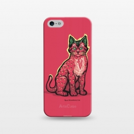 iPhone 5/5E/5s  [ Fruit Cats ] Strawberry by Draco