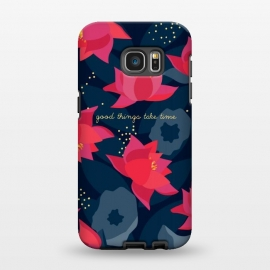 "Galaxy S7 EDGE  Midnight Flowers - ""Good things take time"" by Stefania Pochesci"
