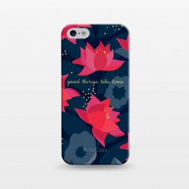 "iPhone 5/5E/5s  Midnight Flowers - ""Good things take time"" by Stefania Pochesci"