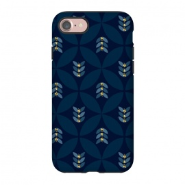 iPhone 7 StrongFit Geometric blue by Stefania Pochesci (Geometric,seventies,pattern,blue)