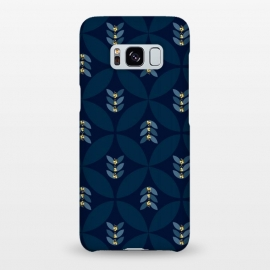Galaxy S8+  Geometric blue by Stefania Pochesci (Geometric,seventies,pattern,blue)