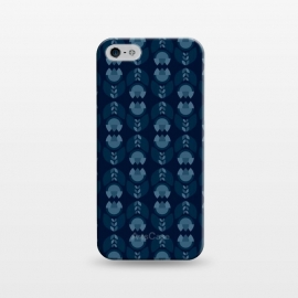 iPhone 5/5E/5s SlimFit Geometric Tulips in blue by Stefania Pochesci (geometric ,minimal,tulips,pattern)