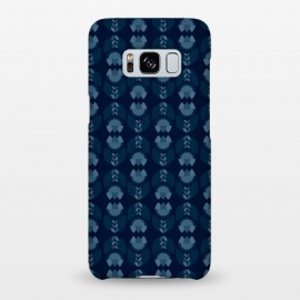 Galaxy S8+  Geometric Tulips in blue by Stefania Pochesci
