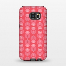 Galaxy S7  Geometric Tulips in pink by Stefania Pochesci