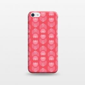 iPhone 5C  Geometric Tulips in pink by Stefania Pochesci