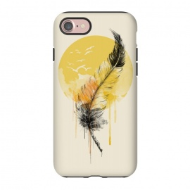 iPhone 8/7  Melted Hope by Alwin Aves (hope ,feather ,watercolor ,birds ,flying birds ,nature ,illustration )