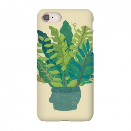 iPhone 7 SlimFit GREEN MIND by Ilustrata (green,natural,head,mind,cool,design,plant)
