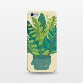 iPhone 5/5E/5s  GREEN MIND by Ilustrata (green,natural,head,mind,cool,design,plant)