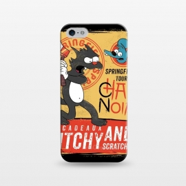 iPhone 5/5E/5s  Chat Noir Simpsons by Ilustrata (simpsons,chat noir,itchy,scratchy,animal,tv,book,lettering,cat,mouse)