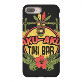 Aku Aku - Tiki Bar by Ilustrata (crash,crash bandicoot,bar,tiki,aku aku,games,90's,playstation,floral,nature,lettering,phrase)