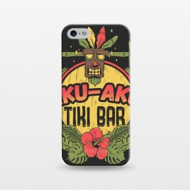 iPhone 5/5E/5s  Aku Aku - Tiki Bar by Ilustrata (crash,crash bandicoot,bar,tiki,aku aku,games,90's,playstation,floral,nature,lettering,phrase)