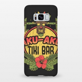 Galaxy S8+  Aku Aku - Tiki Bar by Ilustrata (crash,crash bandicoot,bar,tiki,aku aku,games,90's,playstation,floral,nature,lettering,phrase)