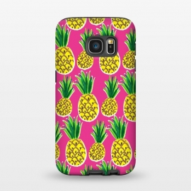 Galaxy S7  Painted pineapples by Laura Grant