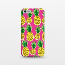 iPhone 5/5E/5s  Painted pineapples by Laura Grant (pineapple,fruit,tropical,summer)