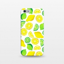 iPhone 5/5E/5s  painted lemon and limes by Laura Grant