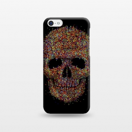 iPhone 5C  Acid Skull by Sitchko Igor (skull, acid,music,pixel,pixels,smite,electronic,underground,colorful,horror,particles,effect,color,8 bit,lsd)